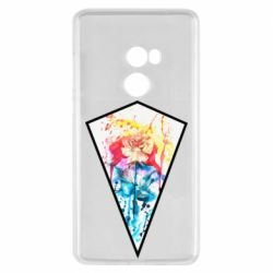 Чехол для Xiaomi Mi Mix 2 Watercolor flower in a geometric frame