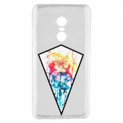 Чехол для Xiaomi Redmi Note 4 Watercolor flower in a geometric frame