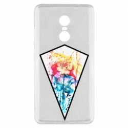 Чехол для Xiaomi Redmi Note 4x Watercolor flower in a geometric frame