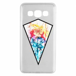 Чехол для Samsung A3 2015 Watercolor flower in a geometric frame
