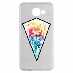 Чехол для Samsung A5 2016 Watercolor flower in a geometric frame
