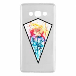 Чехол для Samsung A7 2015 Watercolor flower in a geometric frame