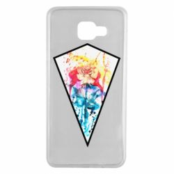 Чехол для Samsung A7 2016 Watercolor flower in a geometric frame