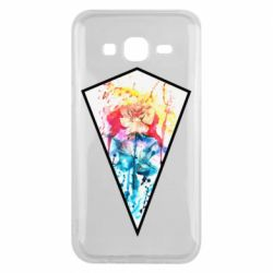Чехол для Samsung J5 2015 Watercolor flower in a geometric frame