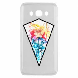 Чехол для Samsung J5 2016 Watercolor flower in a geometric frame