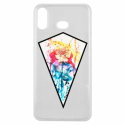 Чехол для Samsung A6s Watercolor flower in a geometric frame