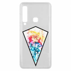 Чехол для Samsung A9 2018 Watercolor flower in a geometric frame
