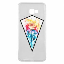 Чехол для Samsung J4 Plus 2018 Watercolor flower in a geometric frame