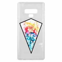 Чехол для Samsung Note 9 Watercolor flower in a geometric frame