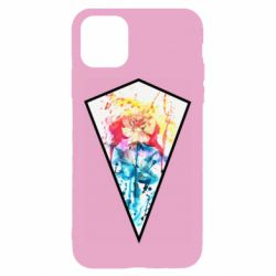 Чехол для iPhone 11 Watercolor flower in a geometric frame