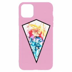 Чехол для iPhone 11 Pro Watercolor flower in a geometric frame
