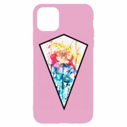 Чехол для iPhone 11 Pro Max Watercolor flower in a geometric frame
