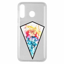 Чехол для Samsung M30 Watercolor flower in a geometric frame