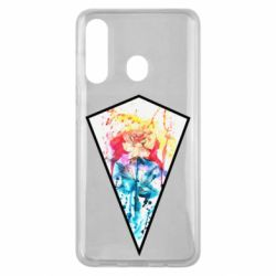 Чехол для Samsung M40 Watercolor flower in a geometric frame