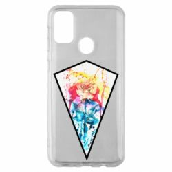 Чехол для Samsung M30s Watercolor flower in a geometric frame