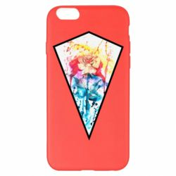 Чехол для iPhone 6 Plus/6S Plus Watercolor flower in a geometric frame