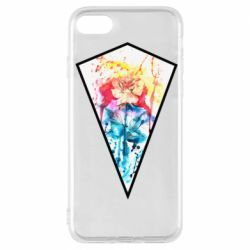 Чехол для iPhone 7 Watercolor flower in a geometric frame