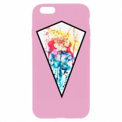 Чехол для iPhone 6/6S Watercolor flower in a geometric frame