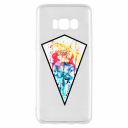 Чехол для Samsung S8 Watercolor flower in a geometric frame