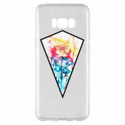 Чехол для Samsung S8+ Watercolor flower in a geometric frame