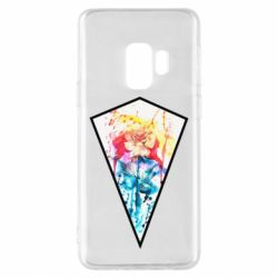 Чехол для Samsung S9 Watercolor flower in a geometric frame