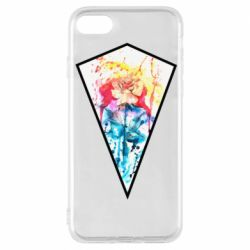 Чехол для iPhone 8 Watercolor flower in a geometric frame