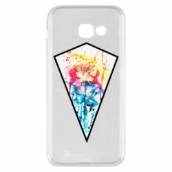 Чехол для Samsung A5 2017 Watercolor flower in a geometric frame
