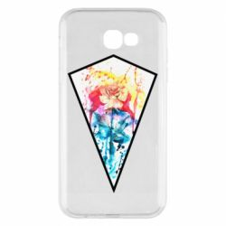 Чехол для Samsung A7 2017 Watercolor flower in a geometric frame