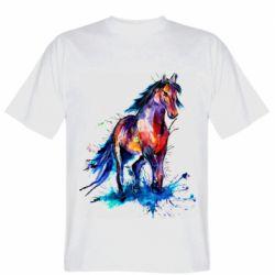 Мужская футболка Watercolor horse