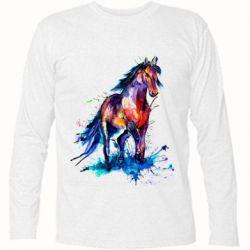 Футболка с длинным рукавом Watercolor horse