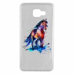 Чехол для Samsung A7 2016 Watercolor horse