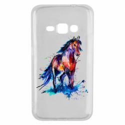 Чехол для Samsung J1 2016 Watercolor horse