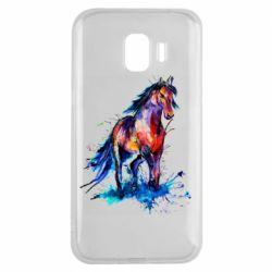 Чехол для Samsung J2 2018 Watercolor horse