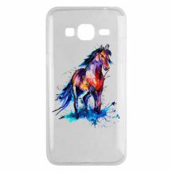 Чехол для Samsung J3 2016 Watercolor horse