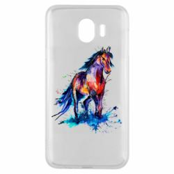 Чехол для Samsung J4 Watercolor horse