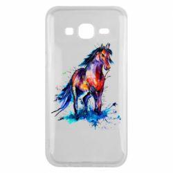 Чехол для Samsung J5 2015 Watercolor horse