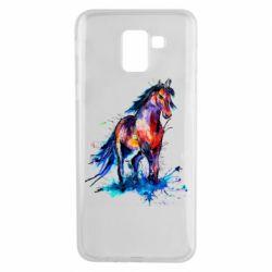 Чехол для Samsung J6 Watercolor horse