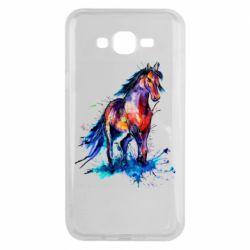 Чехол для Samsung J7 2015 Watercolor horse
