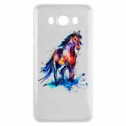 Чехол для Samsung J7 2016 Watercolor horse