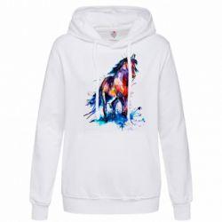 Женская толстовка Watercolor horse