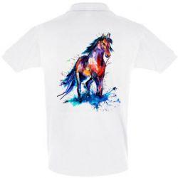 Мужская футболка поло Watercolor horse
