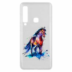 Чехол для Samsung A9 2018 Watercolor horse