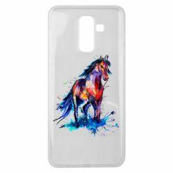 Чехол для Samsung J8 2018 Watercolor horse