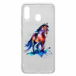 Чехол для Samsung A20 Watercolor horse