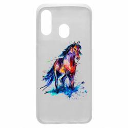 Чехол для Samsung A40 Watercolor horse
