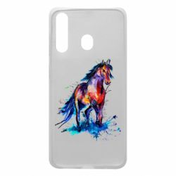 Чехол для Samsung A60 Watercolor horse