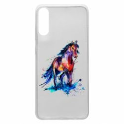 Чехол для Samsung A70 Watercolor horse