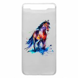 Чехол для Samsung A80 Watercolor horse