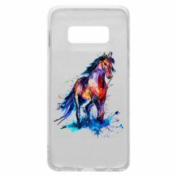 Чехол для Samsung S10e Watercolor horse