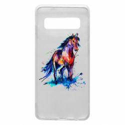 Чехол для Samsung S10 Watercolor horse